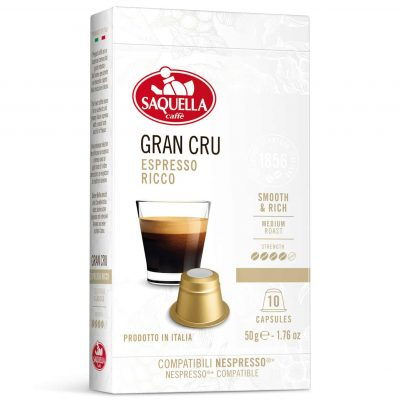 SAQUELLA Gran Cru kafija kapsulās
