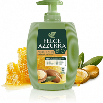 Felce Azzurra BIO šķidrās ziepes Argan & Honey 300ml